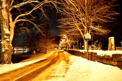 wieczór gór s zmierzchu ural zima Zdjęcie Stock