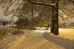 wieczór gór s zmierzchu ural zima Obraz Royalty Free