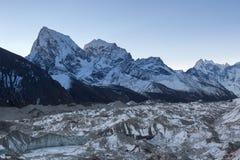 Wieczór góry krajobraz na Trzy przepustkach Zdjęcie Stock