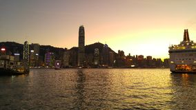 wieczór Hong kong Fotografia Royalty Free