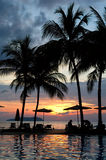 wieczór hotel tropikalny fotografia royalty free
