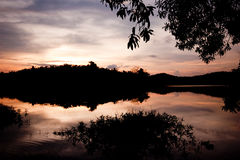 wieczór jezioro Zdjęcia Stock