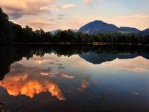 Wieczór jezioro obraz stock