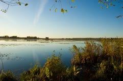 wieczór jezioro Obrazy Stock