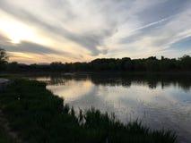Wieczór jezioro Fotografia Stock