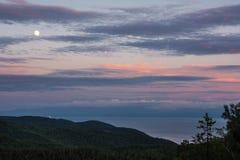 Wieczór jezioro Baikal obraz stock