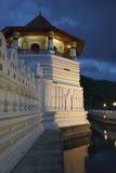 wieczór lanka sri świątyni ząb zdjęcie stock