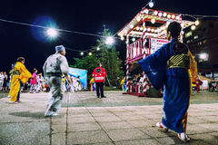 Wieczór Matsuri sceny Toya Jeziorny hokkaido Zdjęcie Royalty Free