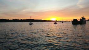 Wieczór morze zdjęcia royalty free