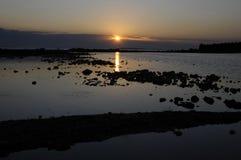 wieczór morze Obraz Royalty Free