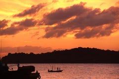 Wieczór morze zdjęcia stock