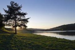 Wieczór na Jeziorze Zdjęcie Royalty Free