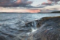 Wieczór na Jeziorze Obrazy Royalty Free