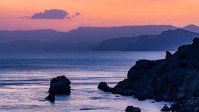 Wieczór na morzu Obrazy Royalty Free