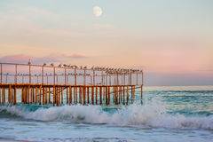 Wieczór na morzu Fotografia Royalty Free