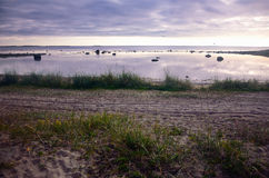 Wieczór na Północnym morzu Zdjęcie Royalty Free