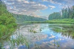 Wieczór na rzece Zdjęcie Stock