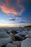 Wieczór na zimy morzu Fotografia Stock