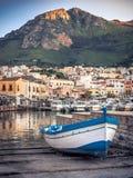 Wieczór nastrój w Castellamare Del Golfo zdjęcie stock