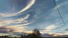 wieczór nieb nieba tekstura Fotografia Royalty Free