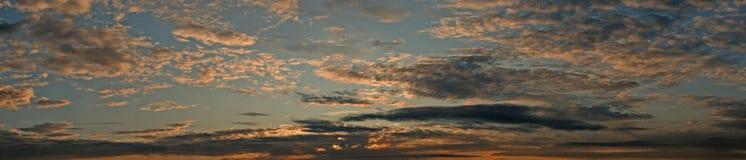 wieczór nieba Obrazy Royalty Free