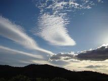 Wieczór nieba sępa szczyt, AZ Fotografia Royalty Free