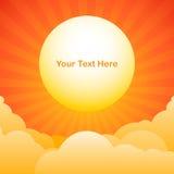 Wieczór nieba tło z słońce teksta przestrzenią Zdjęcie Stock