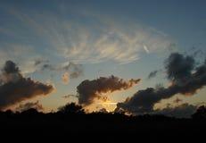 wieczór niebo Obrazy Royalty Free