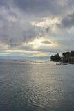 Wieczór niebo nad morzem Obrazy Royalty Free