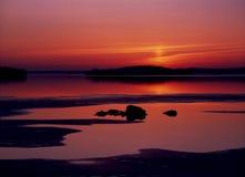 wieczór nordic Zdjęcia Royalty Free
