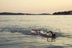 Wieczór pływanie Obraz Royalty Free