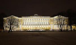 Wieczór Petersburg w wigilię nowego roku Fotografia Royalty Free