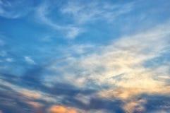 wieczór piękny niebo obrazy stock