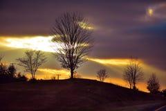 wieczór piękny krajobraz Fotografia Royalty Free