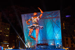 Wieczór przedstawienie w Barcelona Zdjęcie Stock
