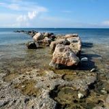 Wieczór przy brzegowym Protaras Cypr Zdjęcie Stock