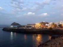 Wieczór przy Garachico na Tenerife Zdjęcia Royalty Free