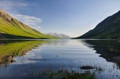 Wieczór przy Loch Etive, Szkocja UK -, Obrazy Stock