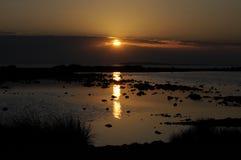 Wieczór przy morzem Zdjęcia Stock
