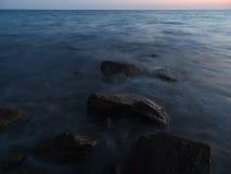 Wieczór przy morzem Obrazy Royalty Free