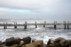 Wieczór przy morzem Durres zdjęcia royalty free