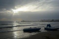 Wieczór przy morzem Durres zdjęcia stock