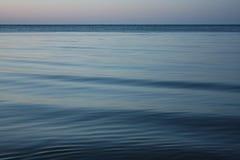 Wieczór przy morzem w zimie Fotografia Royalty Free