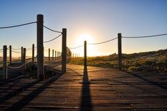Wieczór przy przylądkiem Agulhas - Zachodni przylądek, Południowa Afryka Zdjęcia Royalty Free