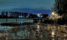 Wieczór przy rzeką Zdjęcia Royalty Free