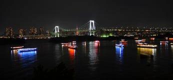 Wieczór przy Tokio linią horyzontu przy Japonia Fotografia Royalty Free
