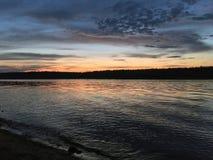 Wieczór przy Volga rzeką Zdjęcie Royalty Free