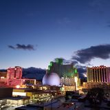 Wieczór Reno Nevada obraz stock