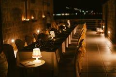 Wieczór restauraci przyjęcia przyjęcie Zdjęcie Stock