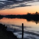 Wieczór rzeka fotografia stock
